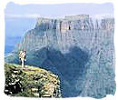 Breathtaking Drakensberg mountain scenery in Kwazulu-Natal province, South Africa