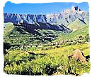 The Amphitheatre in the KwaZulu-Natal Drakensberg of South Africa