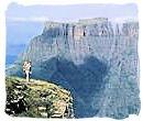 Breathtaking Drakensberg mountain scenery in Kwazulu-Natal province, South Africa