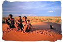 Bushmen family in the desert