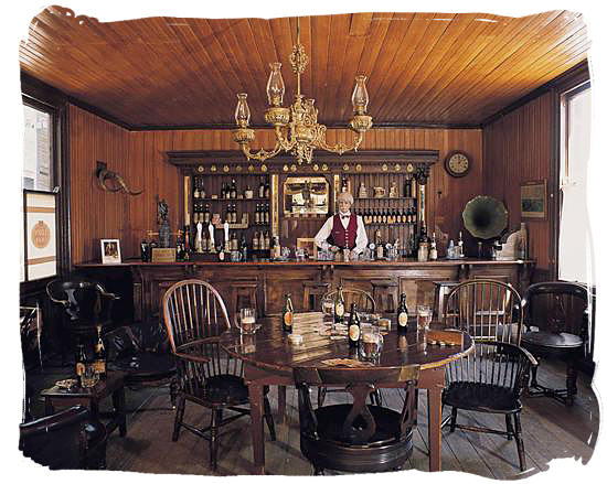 19th century diamond diggers bar at the Kimberley museum - Discovery of Gold and Diamonds in South Africa