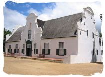 The historic Cape Dutch homestead on the Groot Constantia estate known as Groot Constantia manor house