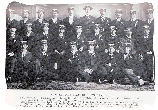 The 1903 New Zealand national rugby team - South African Rugby, South Africa Rugby Team, Early Days
