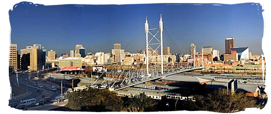 Mandela Bridge and the CBD on the skyline of Johannesburg - City of Johannesburg South Africa Attractions, the Top 15