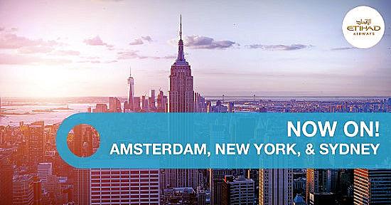 Special offer flights AMS, NY, SYD
