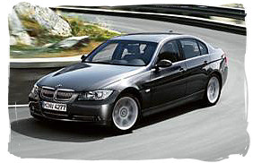 BMW 318i - South Africa rental car.