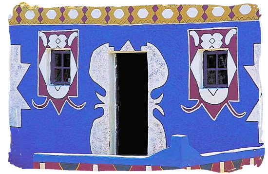 Traditional Basotho house decoration