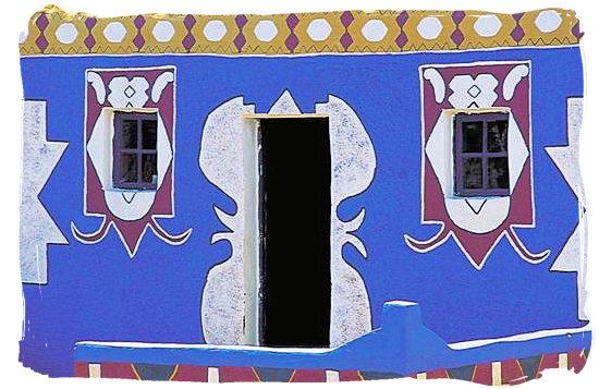 Traditional Basotho house decoration