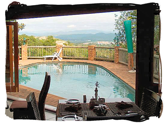 Bed and Breakfast with swimming pool and great view near Pretoria