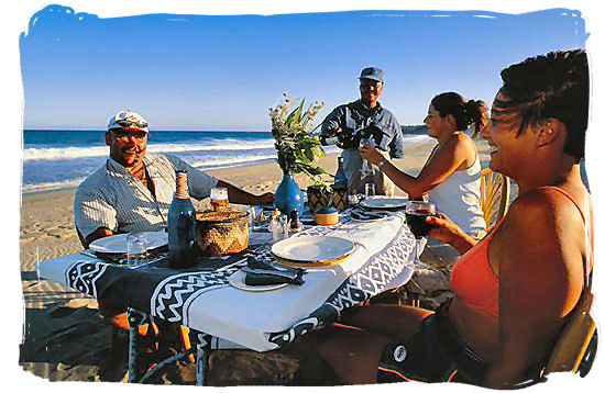 Brunch on the beach at Roctail Bay - South Africa Tours, Best Safari Tours of South Africa