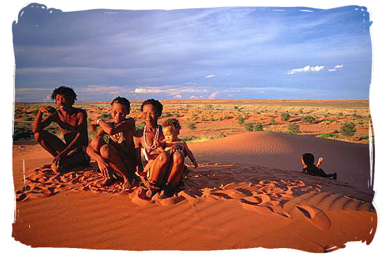 Bushman family, descendants of South Africa's original inhabitants