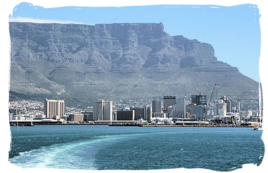 Cape Town with Table Mountain as backdrop viewed from the ferry on its way to Robben Island - City of Cape Town South Africa, Tours and Travel Guides