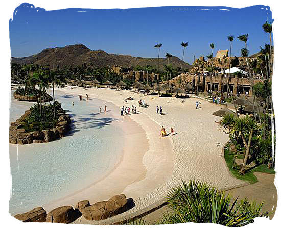 Lost City wave pool at the Sun City resort in Northwest province