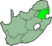 Mpumalanga province - map position