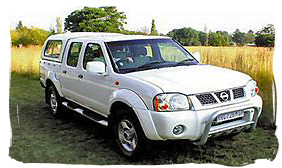 Nissan 4x4 DCab - South Africa rental car.