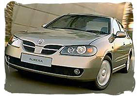 Nissan Almera - South Africa rental car.