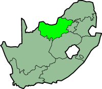 North West province - map position
