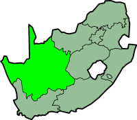Northern cape province - map position