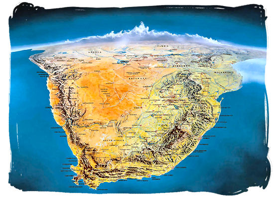 Satellite view of Southern Africa