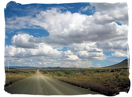 A gravel road in the Karoo - Camdeboo National Park (previously Karoo Nature Reserve)