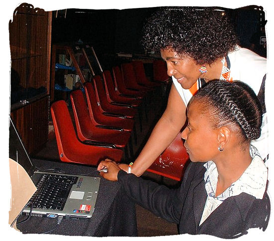 Two modern Xhosa ladies at work - Xhosa Tribe, Xhosa Language and Xhosa Culture in South Africa