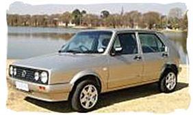 VW Golf Chico - South Africa rental car.