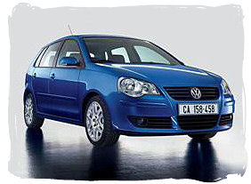 Volkswagen Polo - South Africa rental car.