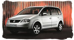 Volkswagen Touran - South Africa rental car.