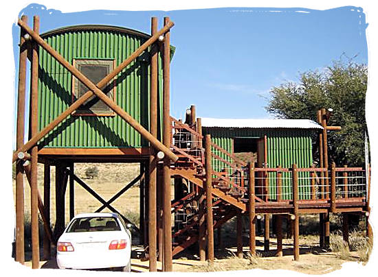 Accommodation at one of the wilderness camps - Kgalagadi Transfrontier Park in the Kalahari