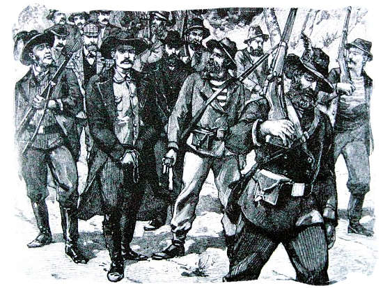 sketch of the arrest of Leander Starr Jameson after the raid - City of Johannesburg South Africa History, Culture, Museums