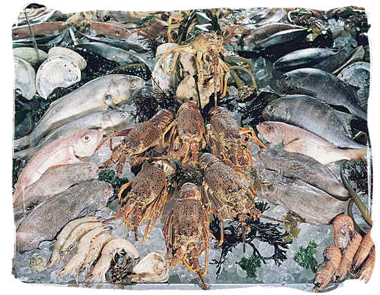 Astonishing variety to choose from - seafood cuisine in South Africa