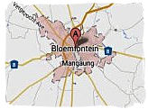 Map of Bloemfontein, South Africa