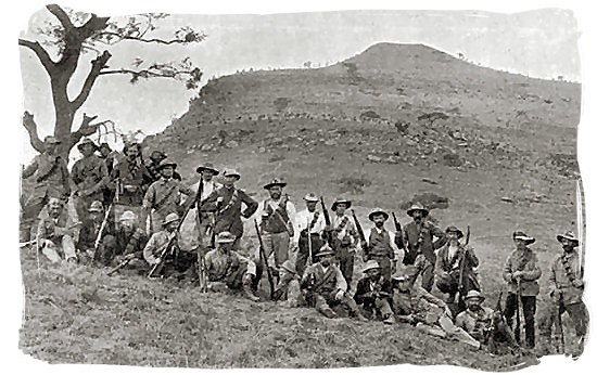January 1900 photograph of Boer forces at Spionkop - Anglo Boer War in South Africa
