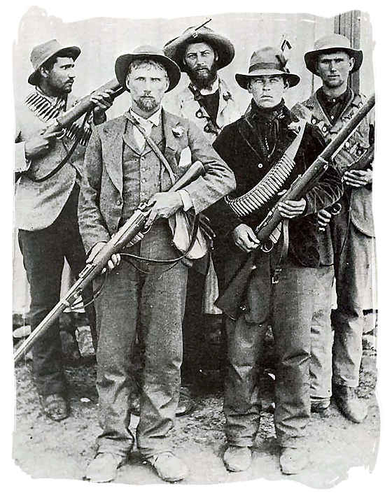 Boer guerrilla fighters during the Second Boer War - Anglo Boer war battlefields tours in South Africa.