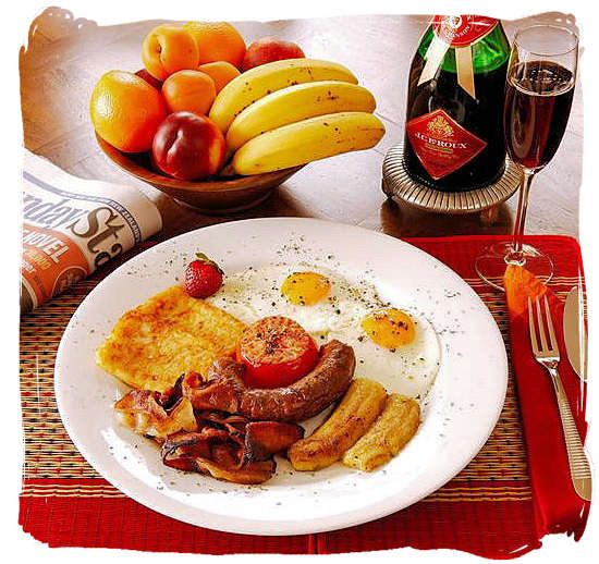 South African breakfast, the perfect start of your day - South Africa cuisine.