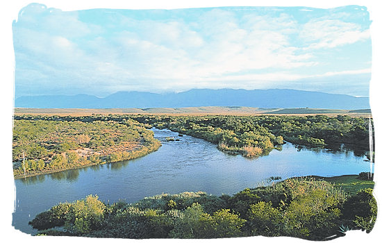 The Breede river, south western boundary of the Park