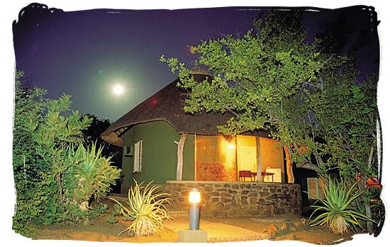 Bungalow at night at Olifants camp - Kruger National Park accommodation