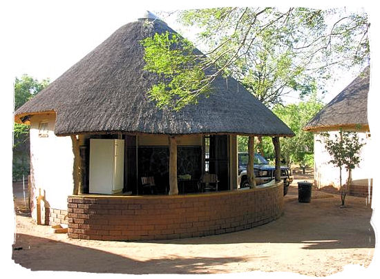 The typical Rondavel accommodation the camp is known for - Satara Rest Camp in the Kruger National Park South Africa