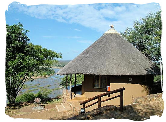Olifants Restcamp, Kruger National Park, South Africa - Bungalow accommodation at the camp with stunning view across the river