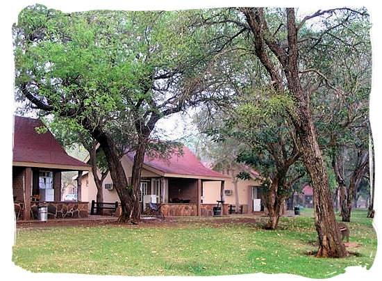 The cottages at the camp - Lower Sabie Rest Camp in the Kruger National Park, South Africa