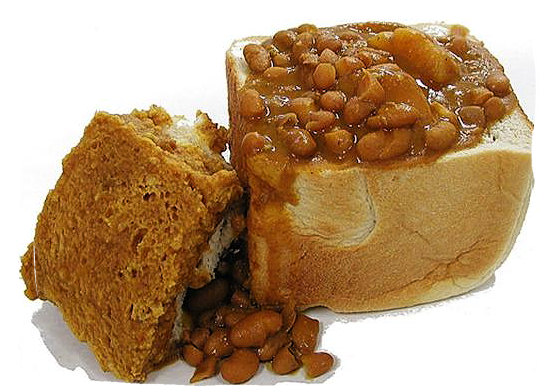The bunny chow, a hollowed out half loaf of bread filled with curry, a typical Indian-South African dish - Delicious food in South Africa, South African food guide