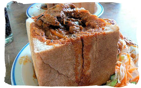 Bunny Chow, example of the Indian contribution to our South Africa cuisine.