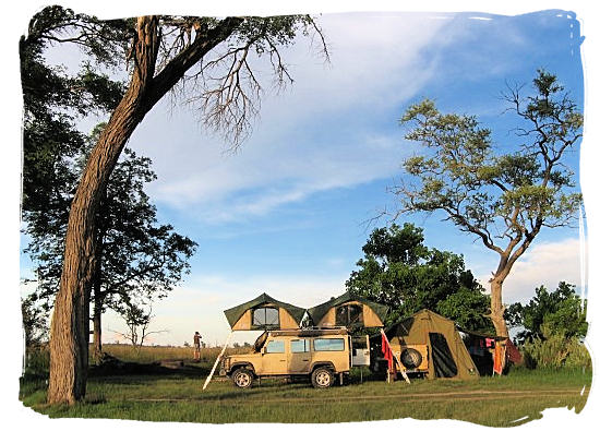 Camping on the African savannah - Marakele National Park accommodation