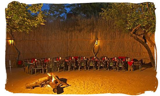 Bushveld dinner in the boma - Best African Safaris, African safari wildlife park, safari vacation