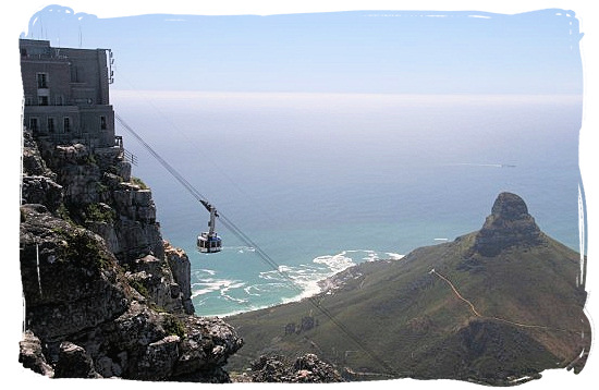 The high-tech Cableway will take you to the top of Table Mountain in a matter of minutes - Cape Town holiday attractions, Table Mountain National Park