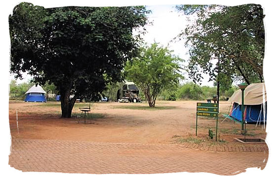 Camping site at Crocodile Bridge rest camp - Kruger National Park Accommodation