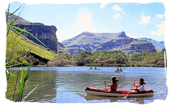 Canoeing in the Golden Gate Highlands National Park