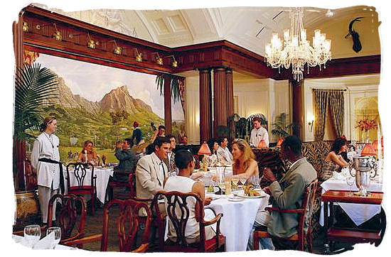 Cape Colony restaurant at the Mount Nelson hotel in Cape Town - South Africa cuisine.