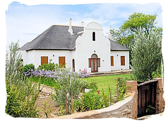 Typical Cape-Dutch style house in the town of Beaufort West