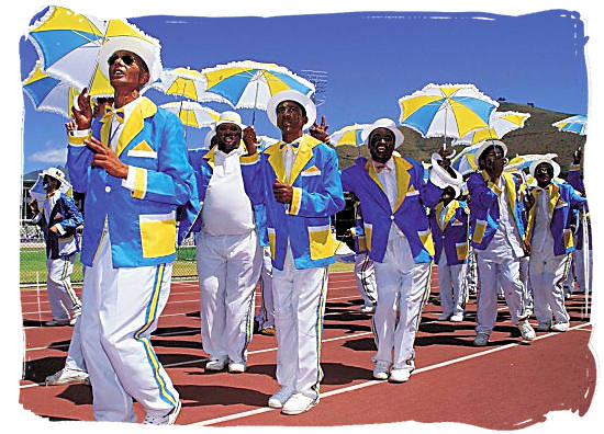 The Cape Town Minstrels celebrating the advent of the New Year - Festivals of South Africa